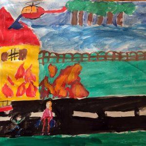 """37 рисунки участваха тази година в общинския етап в Гулянци на конкурса """"С очите си видях бедата"""""""