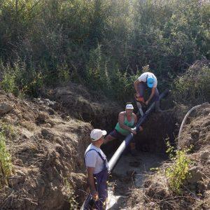 430 метра водопроводни тръби подмениха в Трънчовица