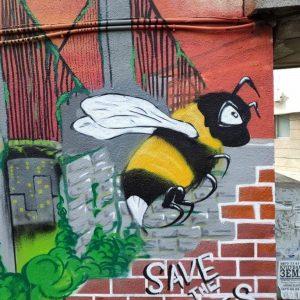 Трафопост в Плевен е изрисуван с призив за опазване на пчелите